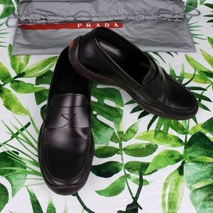 Prada brown  Penny Loafers Made in Italy 37/US 7
